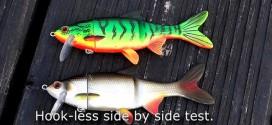 高清泳饵水下视频,目标鱼攻击镜头